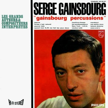 Serge Gainsbourg Percussions album cover 820 brightness