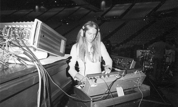 Prog Rock Legend Rick Wakeman Sound Checking Before a Performance