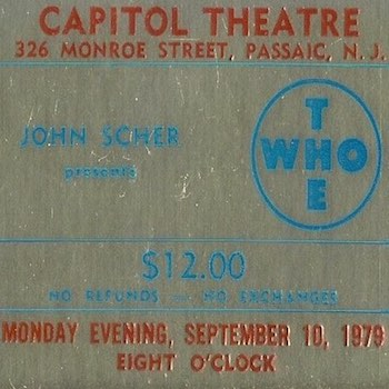 The Who Passaic Theatre