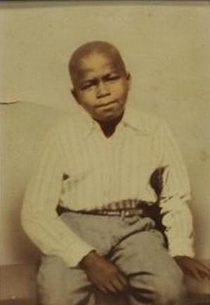 A childhood photo of James Brown is on d