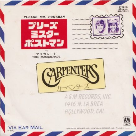 Carpenters Please Mr. Postman