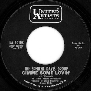 Spencer Davis Group Gimme Some Lovin UA