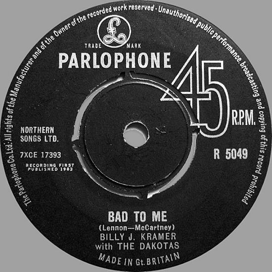 billy-j-kramer-and-the-dakotas-bad-to-me-parlophone