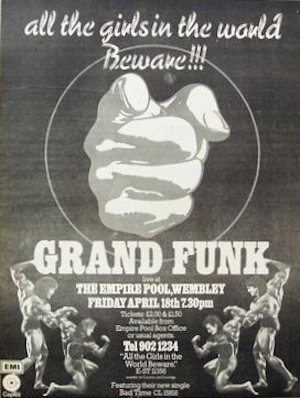 Grand Funk UK poster