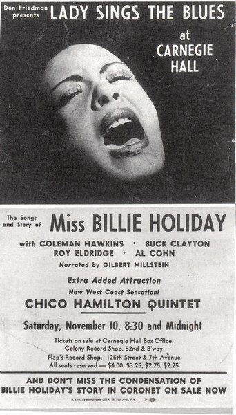 Billie Holiday Lady Sings The Blues Carnegie Hall