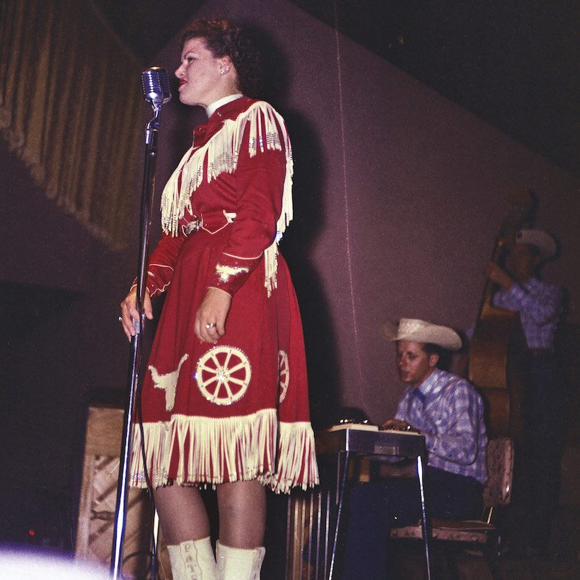 Patsy Cline on stage
