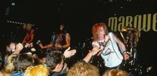 Guns n roses under a marquee moon udiscover for 1988 club music