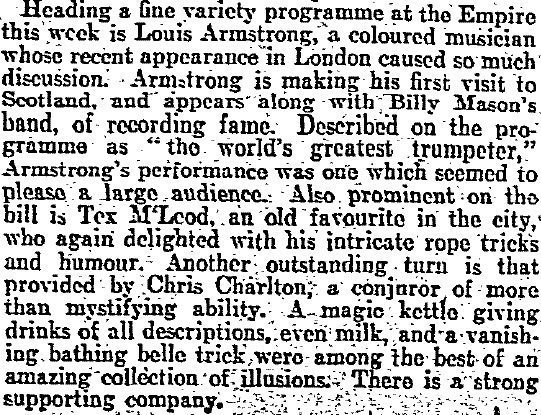 320816 Louis Armstrong Glasgow Empire review copy