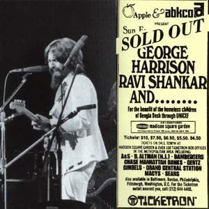 George Harrison ticket stub