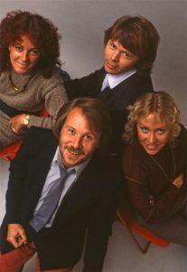Frida, top left, with ABBA during a promotional shoot for their final album, 'The Visitors'.