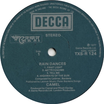 Rain Dances Camel disc