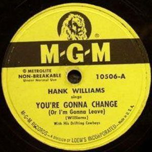 hank williams you're gonna change