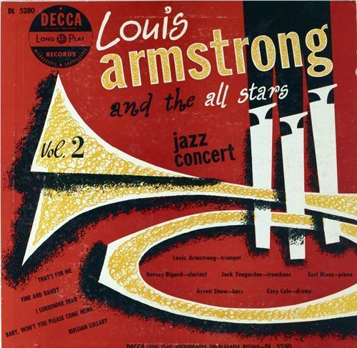 Jazz Concert Volume 2 - Louis Armstrong and the All Stars cover