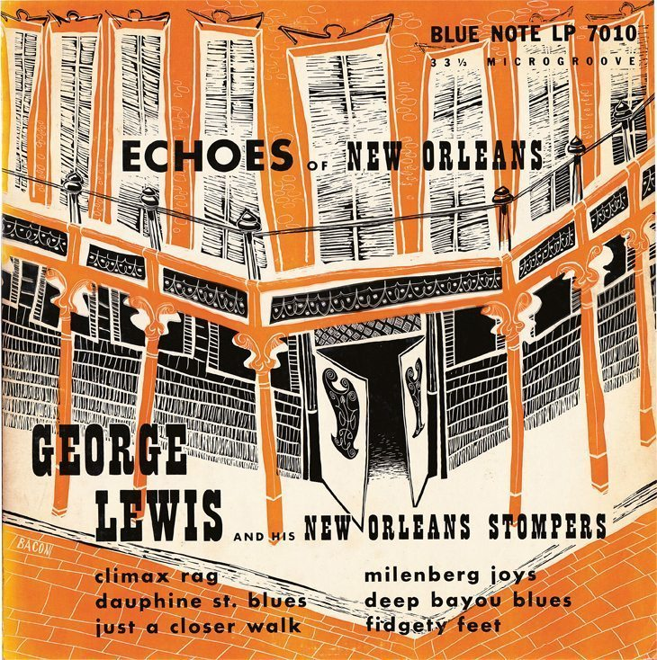 Echoes of New Orleans - Goerge Lewis and His New Orleans Stompers cover