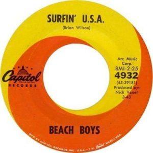 Beach Boys - Surfin' USA Label