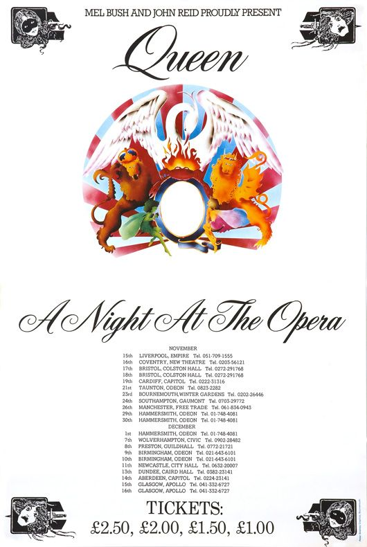 Queen A Night At The Odeon Poster