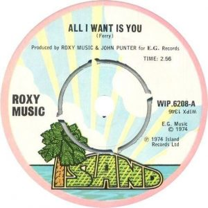 All I Want Is You A-side Label