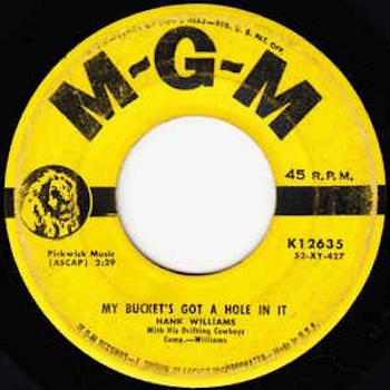 Hank Williams My Bucket single