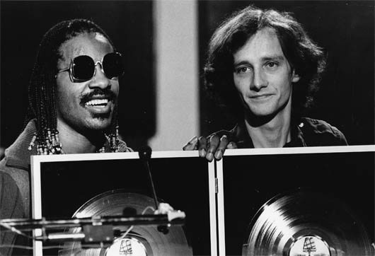 Gilles Petard And Stevie Wonder, early 80s
