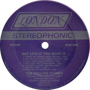 Stones Got Live If You Want It A-side
