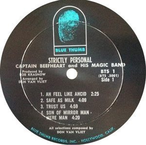 Captain Beefheart Strictly Personal Label