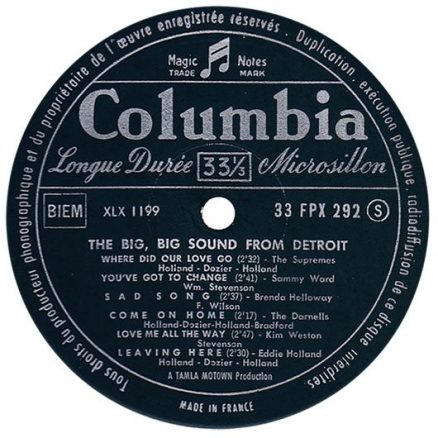 The Big Big Sound Label A-side