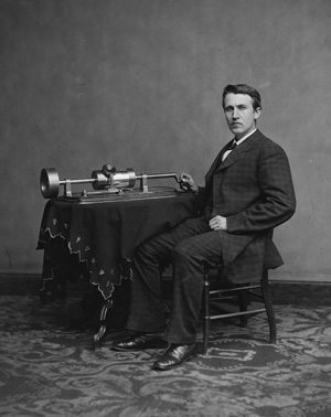 Edison-And-Phonograph