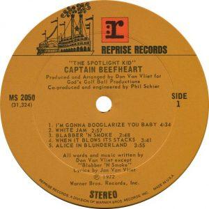 Captain Beefheart Spotlight Kid Label
