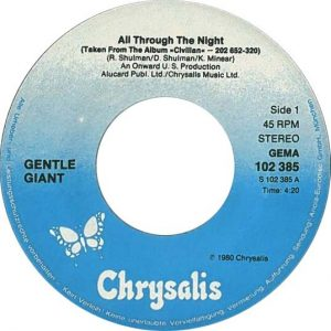 All Through The Night label, 1980