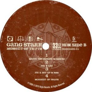 Gang Starr Moment Of Truth Label