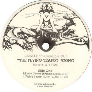 Flying Teapot Label, 1971