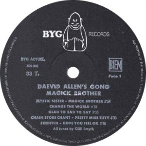 Gong Magick Brother Label