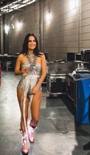 Kacey backstage