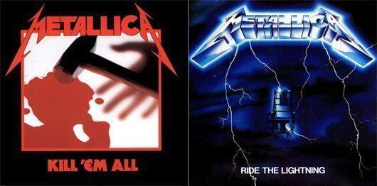 Metallica Ride The Lightning Album Covers