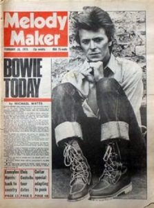 Melody Maker 1970s David Bowie cover