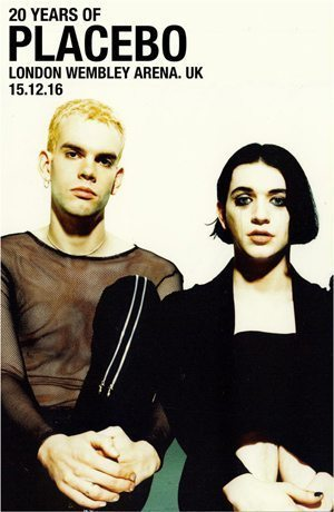 20 Years Of Placebo London Tour Poster