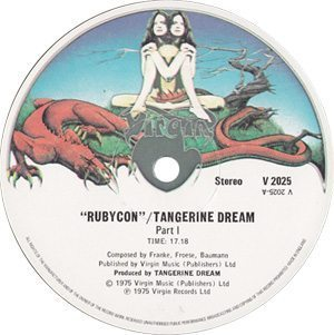 Tangerine Dream Rubycon Label A-side