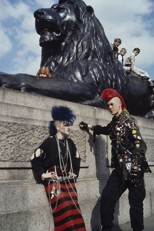 Punks at Trafalgar Square