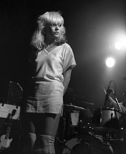 Blondie's Debbie Harry, performing at The Roundhouse London 1977, Philip Grey, PYMCA