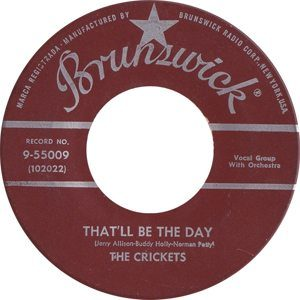 Buddy Holly That'll Be The Day Single Label
