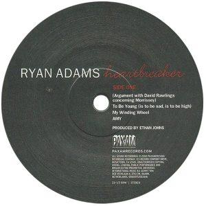 Ryan Adams Heartbreaker Pax-Am Vinyl Label