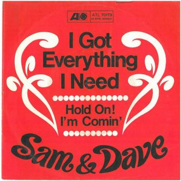 Sam and Dave Hold On I'm Comin single