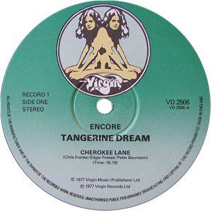 Tangerine Dream Encore Record Label