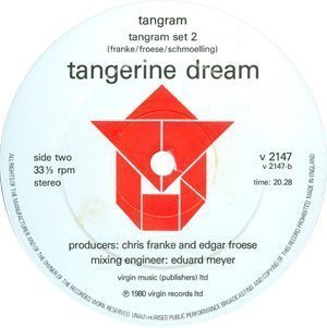 Tangerine Dream Tangram Label