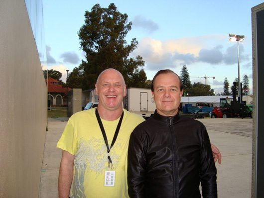 Alex Orbison with Ralf Hütter of Kraftwerk