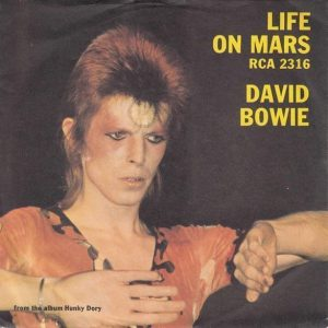 David Bowie Live On Mars Single Cover