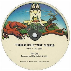 Mike Oldfield Tubular Bells label