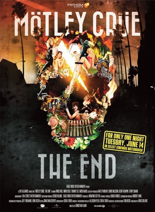 Motley Crue The End Cinema Poster