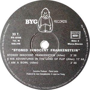 Daevid Allen Banana Moon Record Label Side B - 300