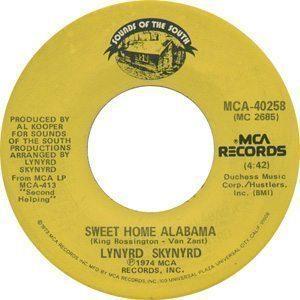Lynyrd Skynyrd - Sweet Home Alabama Single Label - 300